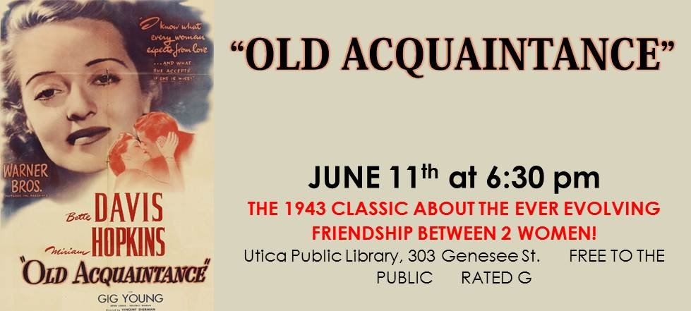 6.11 Old Acquaintance