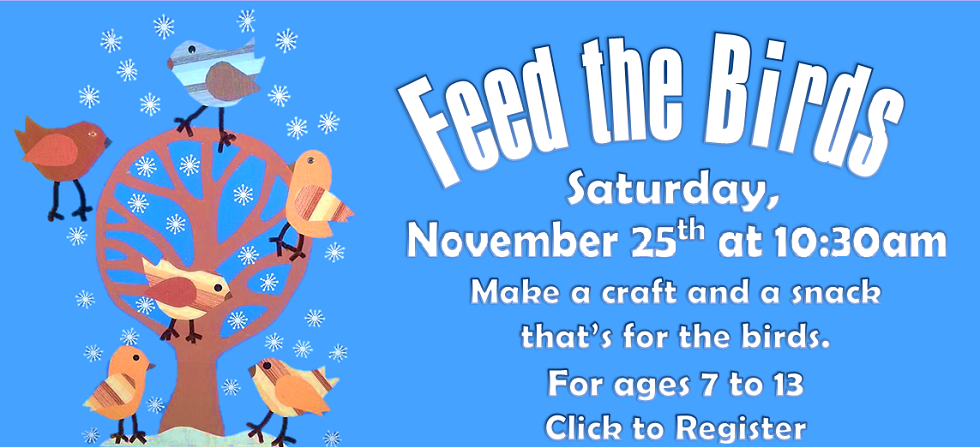 Nov 25 Feed the Birds