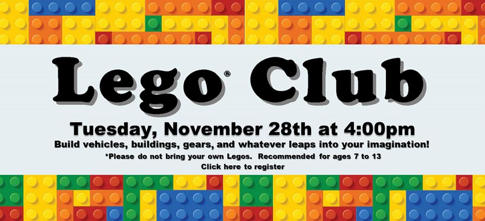 Nov 28 Lego Club